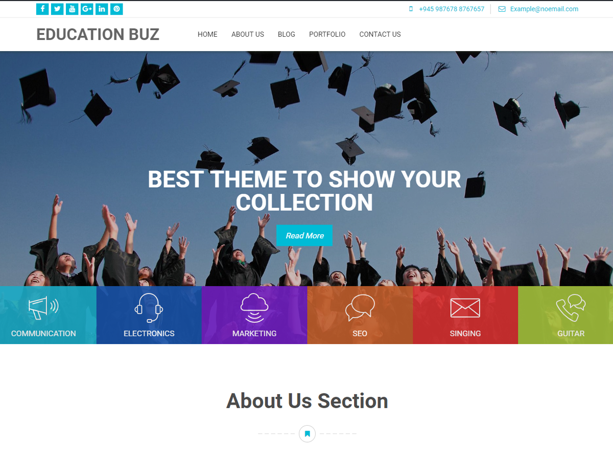 Education Buz Download Free Wordpress Theme 1