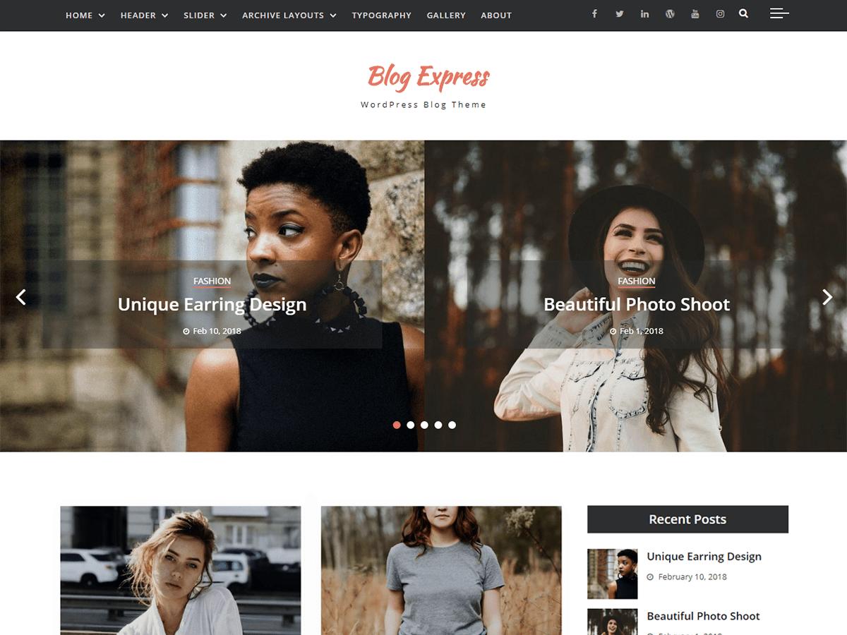 Blog Express Download Free Wordpress Theme 2
