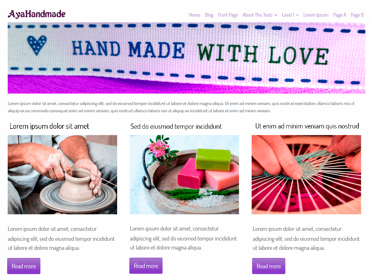 AyaHandmade Download Free Wordpress Theme 3