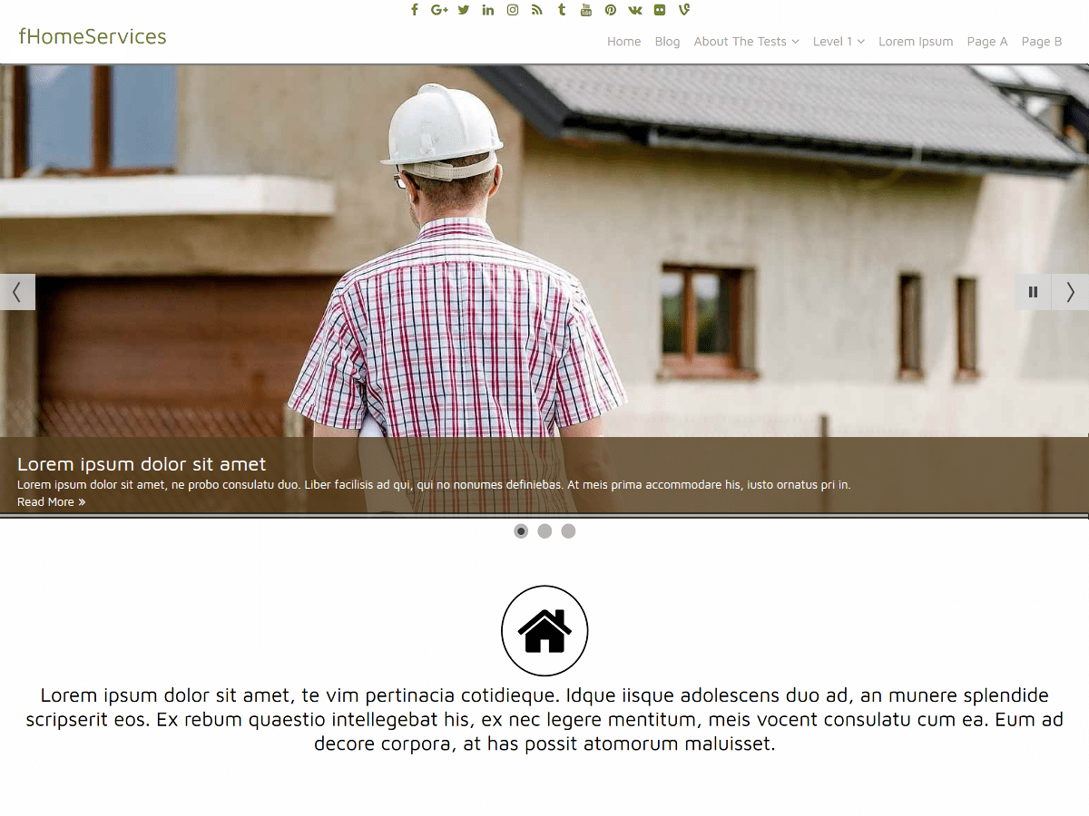 fHomeServices Download Free Wordpress Theme 2