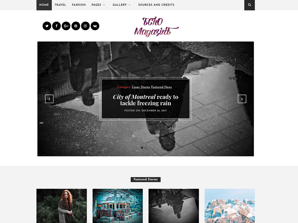 Echo Magazine Download Free Wordpress Theme 2