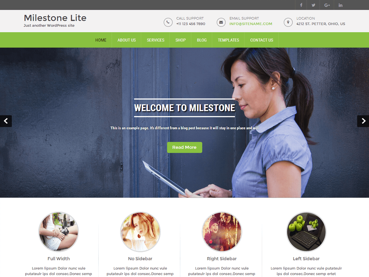 Milestone lite Download Free Wordpress Theme 4