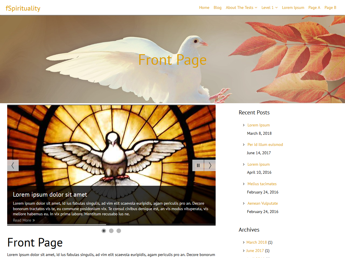 fSpirituality Download Free Wordpress Theme 4
