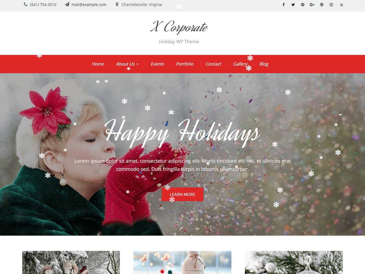 X Corporate Download Free Wordpress Theme 3