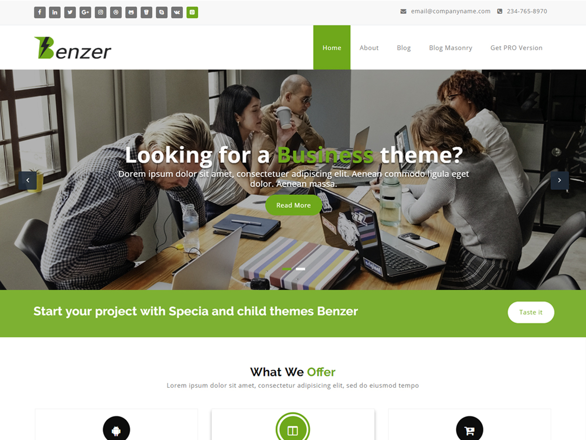 Benzer Download Free Wordpress Theme 3