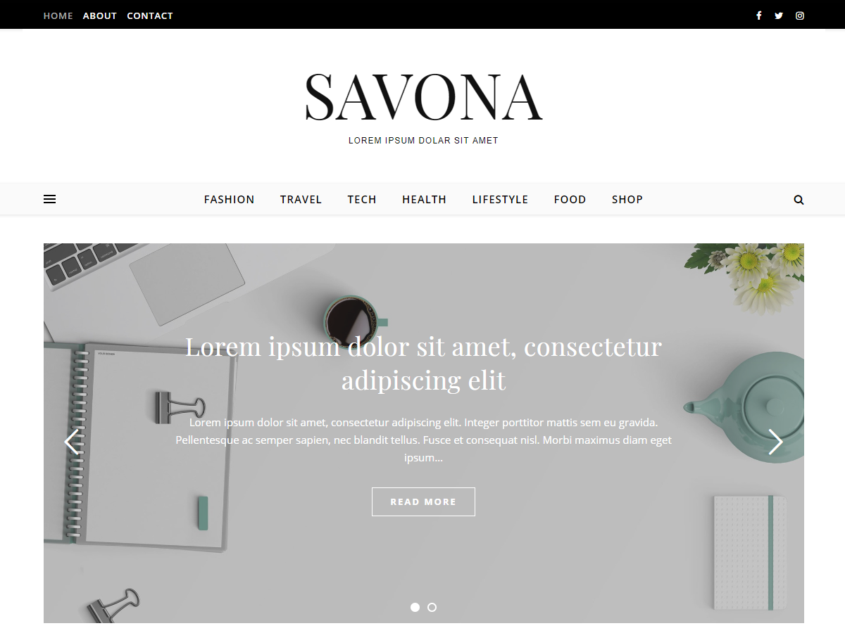 Savona Download Free Wordpress Theme 4