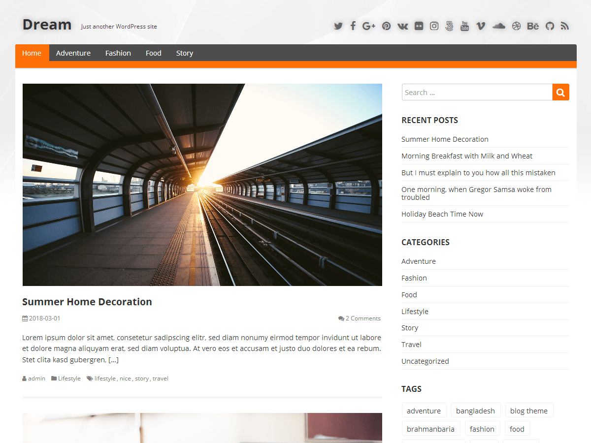 Dream Download Free Wordpress Theme 2