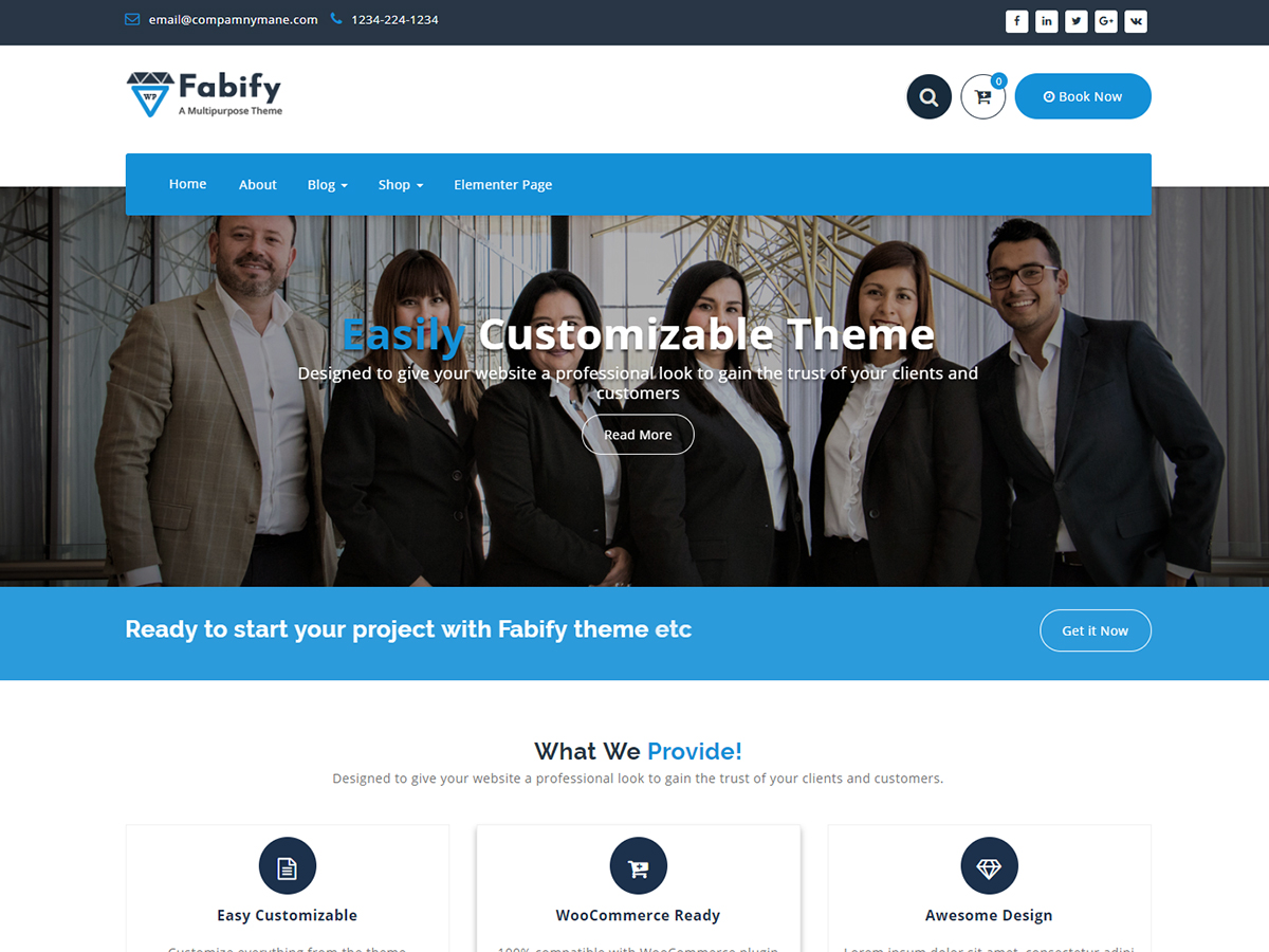 Fabify Download Free Wordpress Theme 2