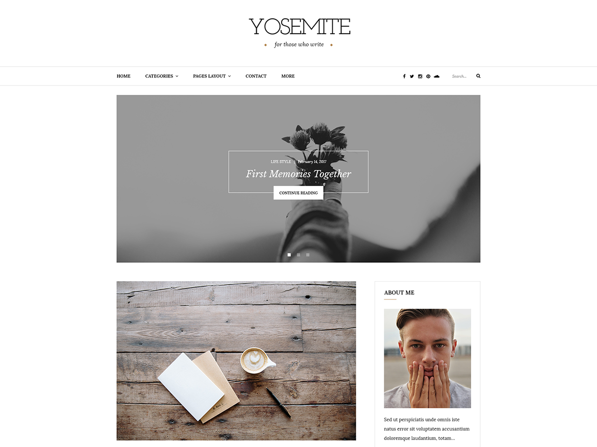 Yosemite Lite Download Free Wordpress Theme 2
