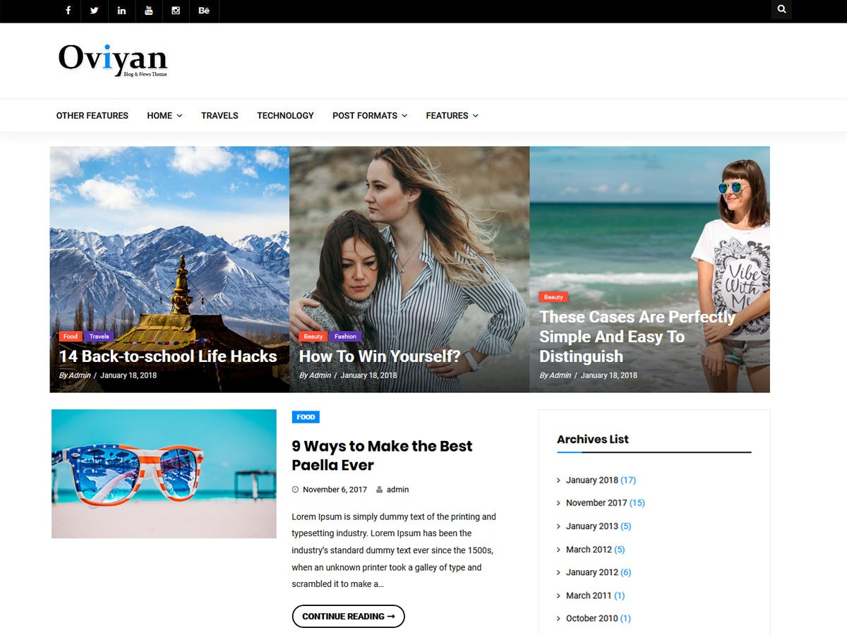 Oviyan Lite Download Free Wordpress Theme 2