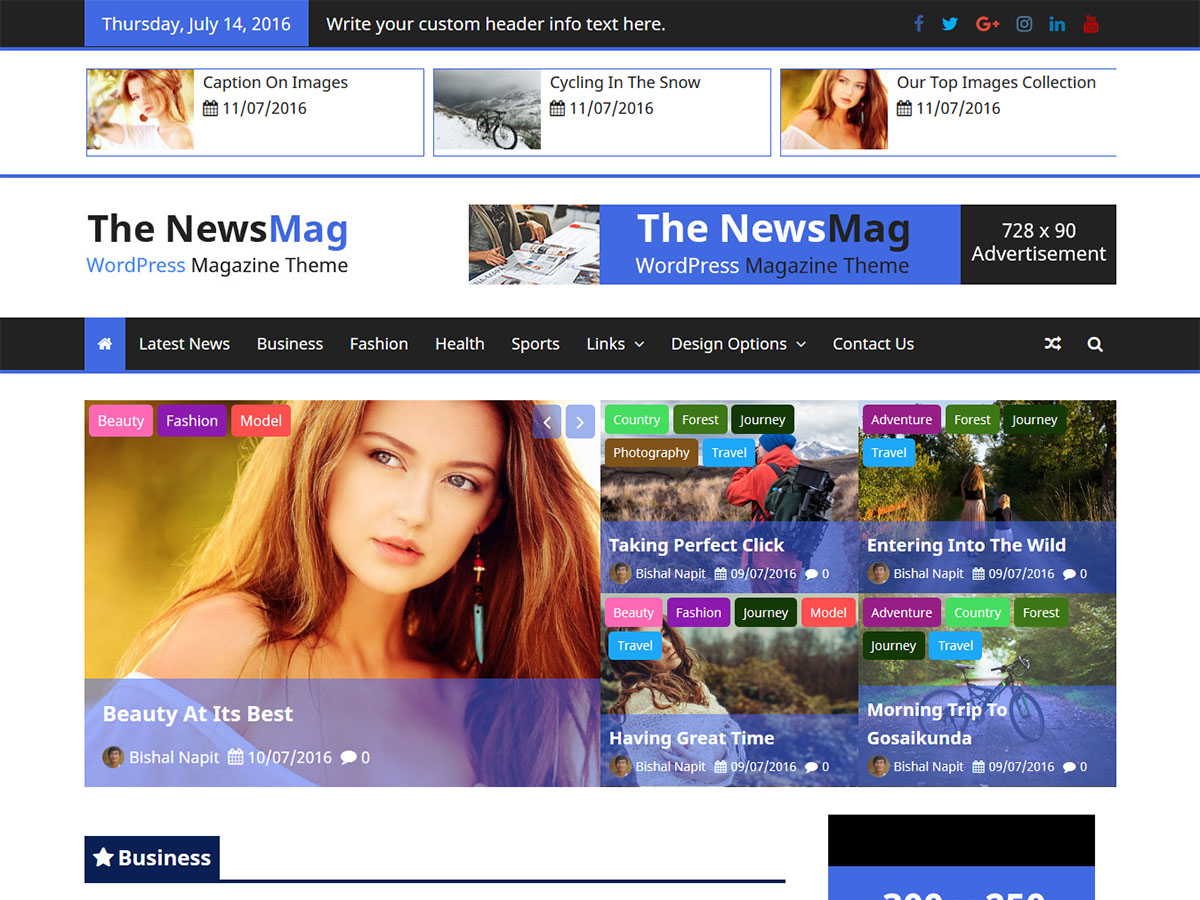 The NewsMag Download Free WordPress Theme