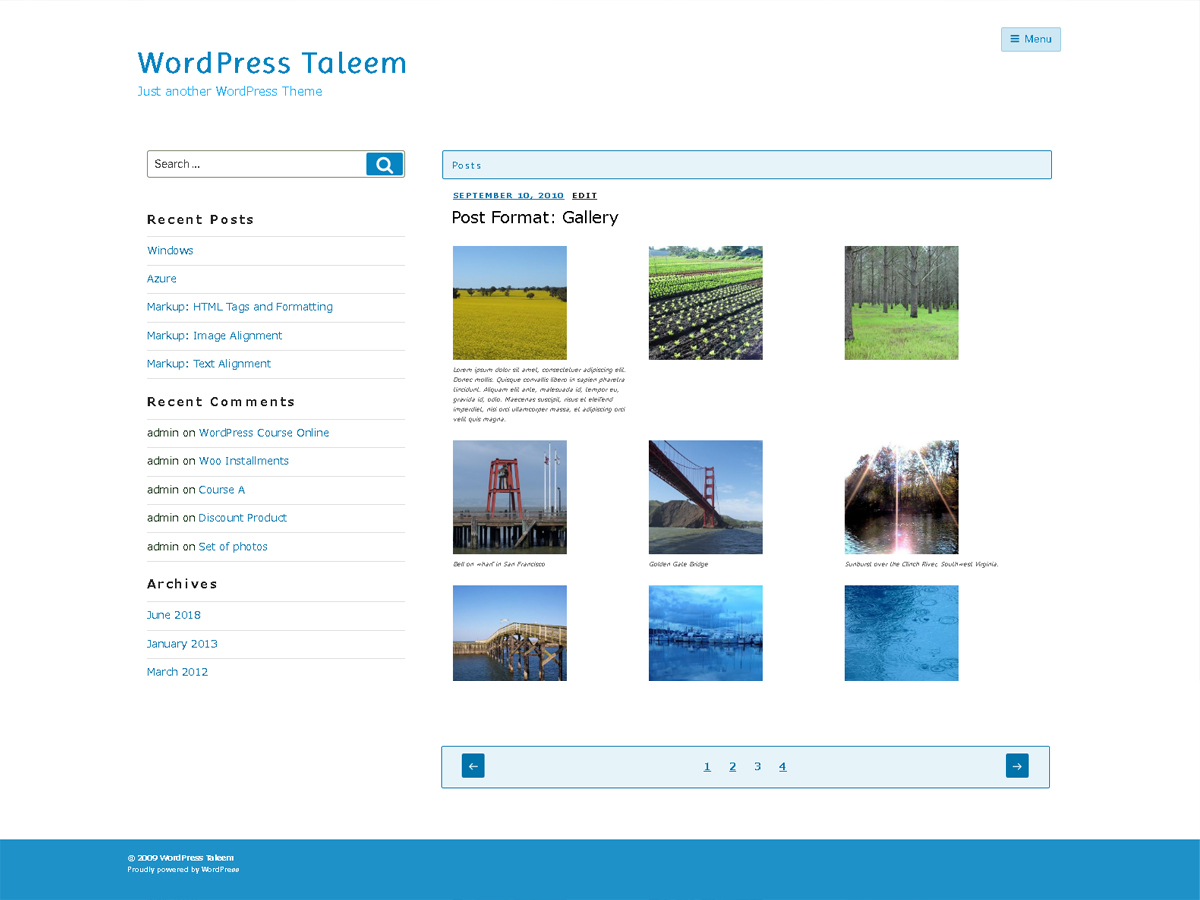 Taleem Download Free Wordpress Theme 3