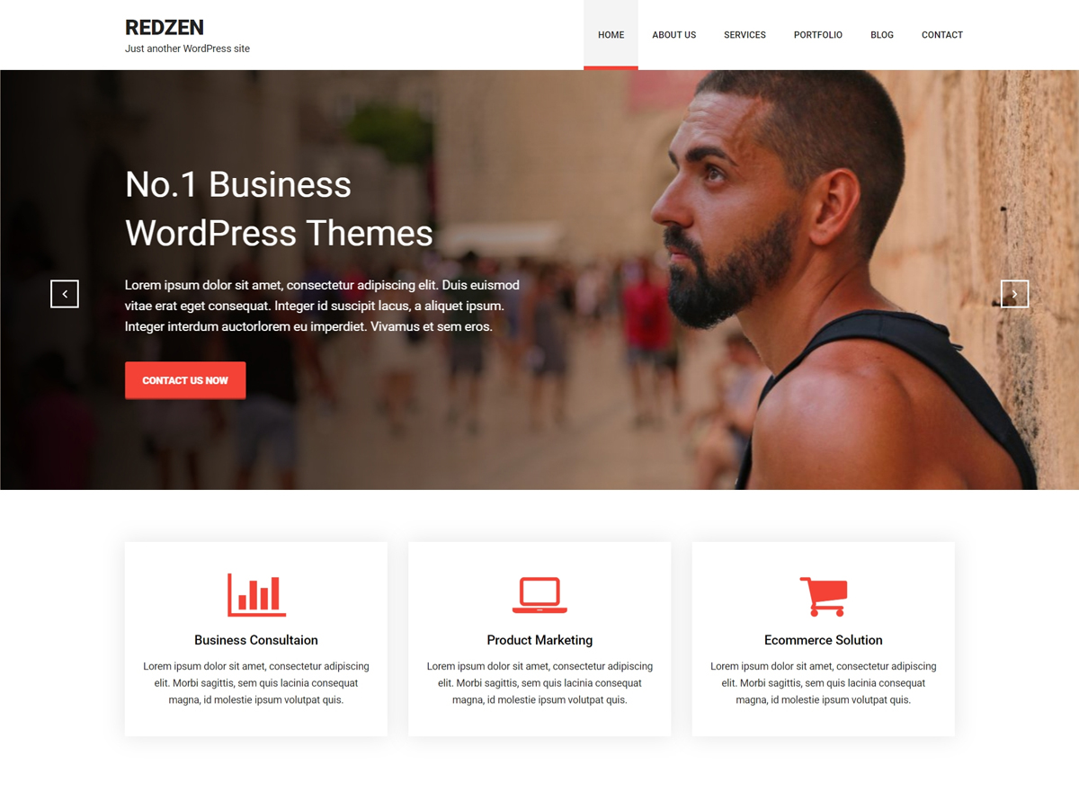 Redzen Download Free Wordpress Theme 1