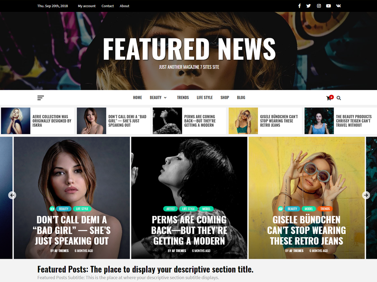 Featured News Download Free Wordpress Theme 1