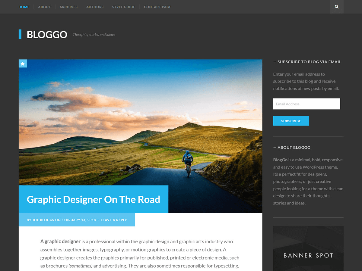 Bloggo Download Free Wordpress Theme 3