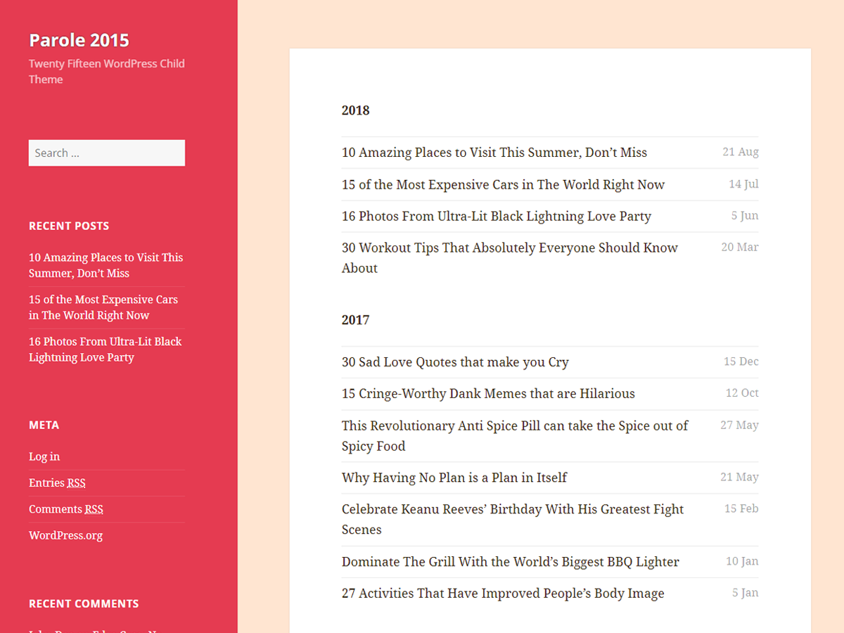 Parole 2015 Download Free Wordpress Theme 3