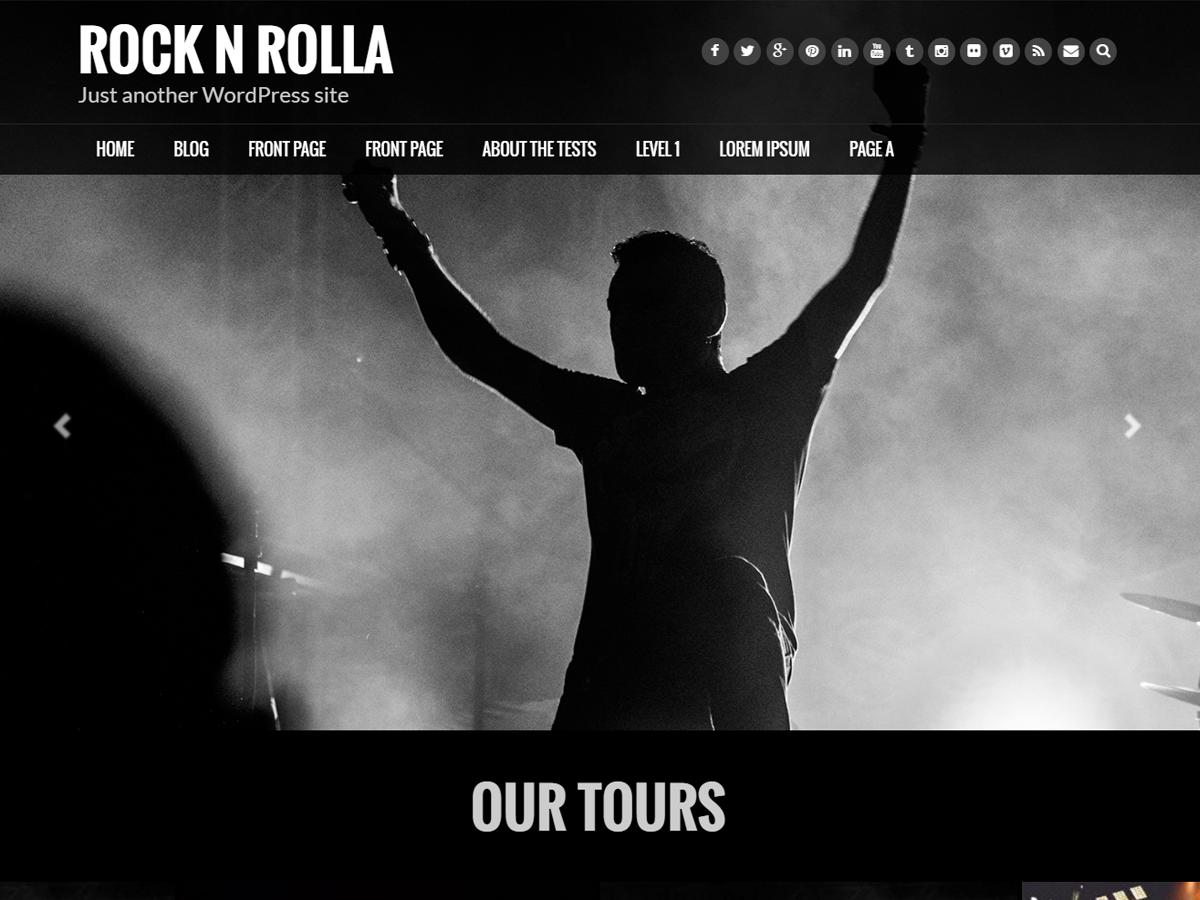 Rock N Rolla Download Free Wordpress Theme 2