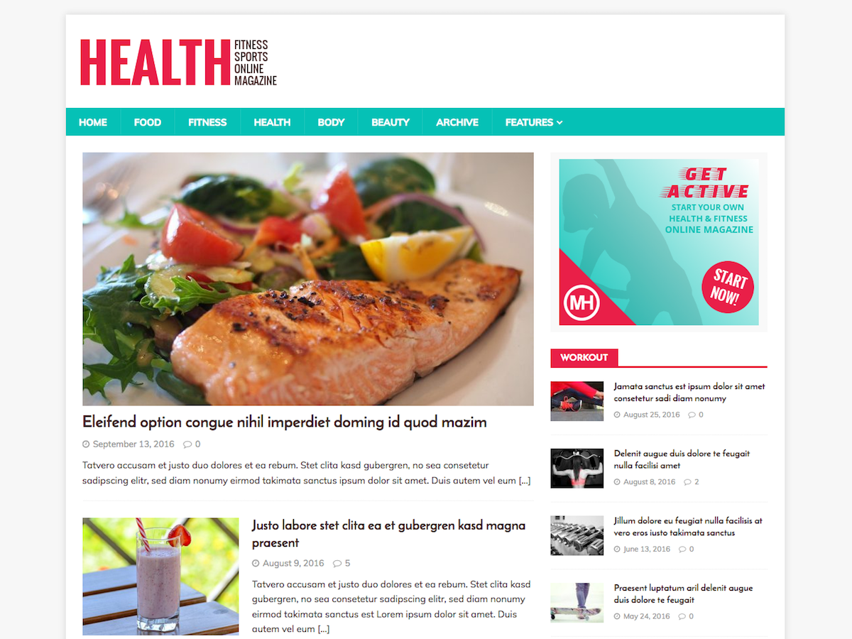 MH HealthMag Download Free Wordpress Theme 1