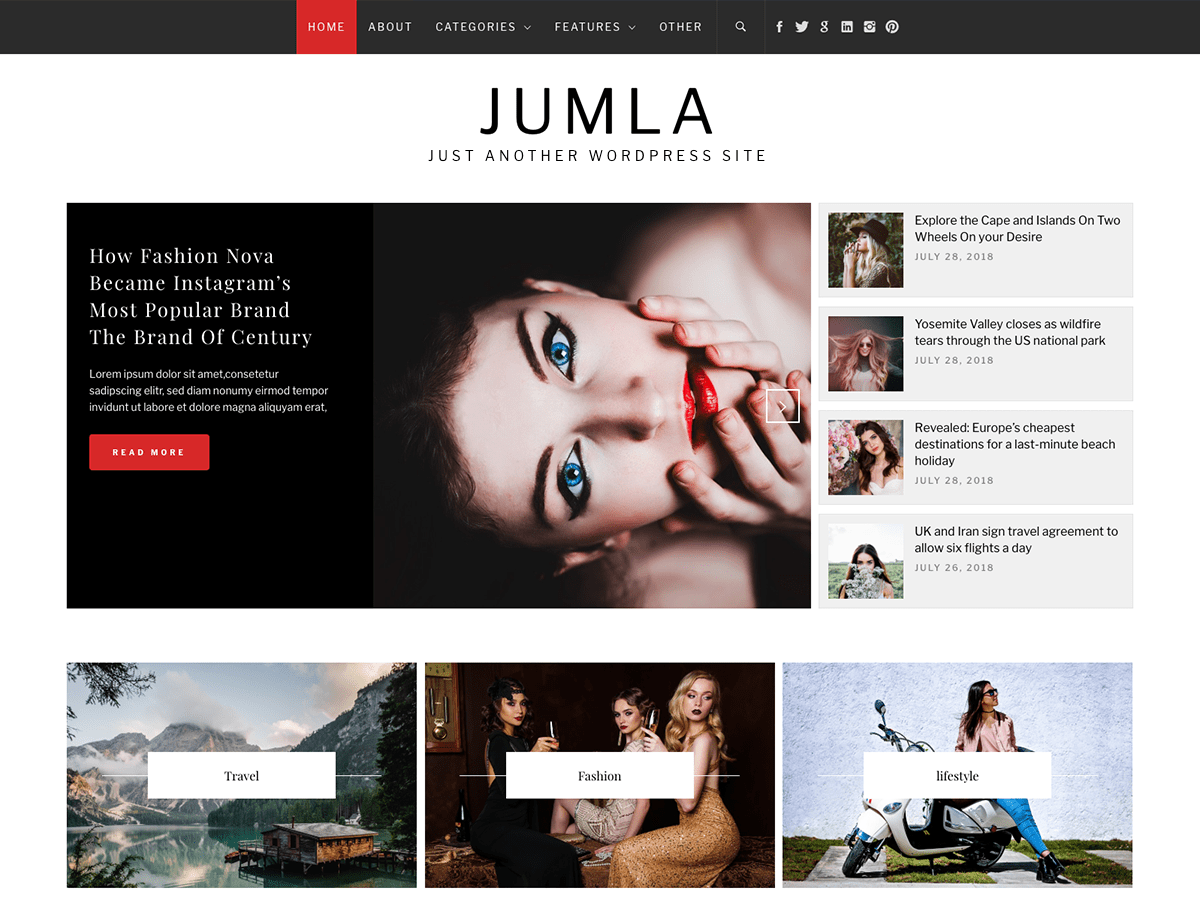 Jumla Download Free Wordpress Theme 1