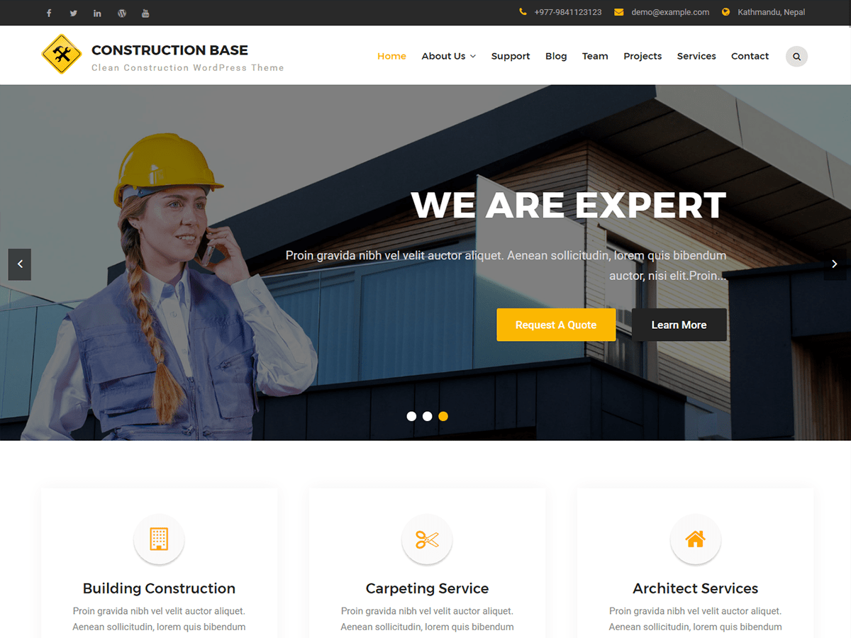 Construction Base Download Free Wordpress Theme 4