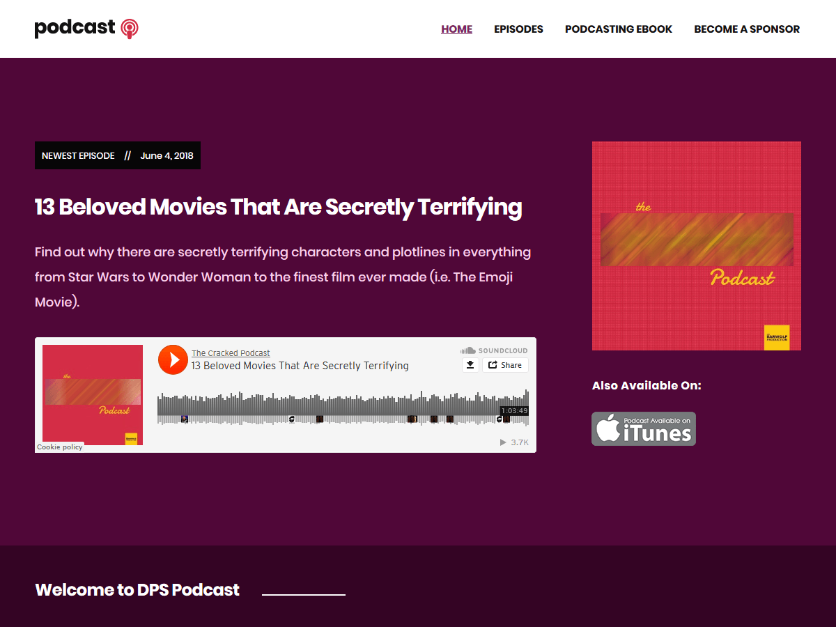 Podcast Download Free Wordpress Theme 3