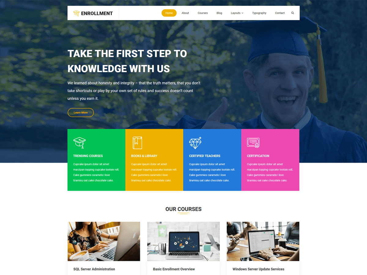 Enrollment Download Free Wordpress Theme 5