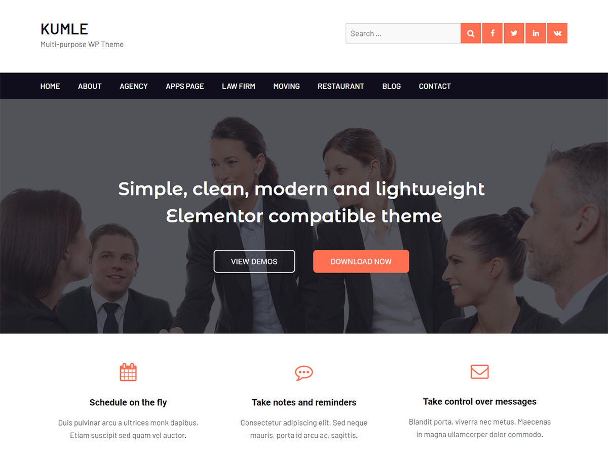 Kumle Download Free Wordpress Theme 1