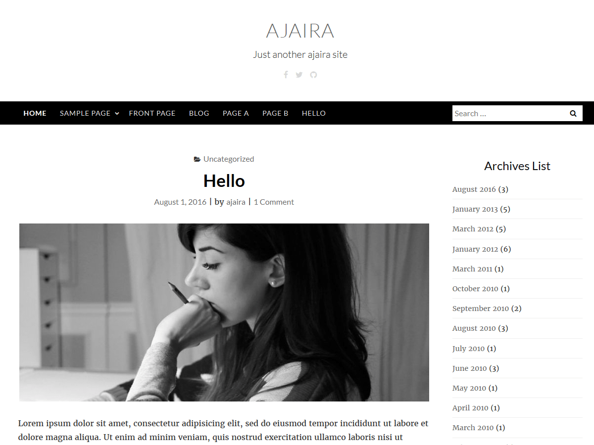 ajaira Download Free Wordpress Theme 3