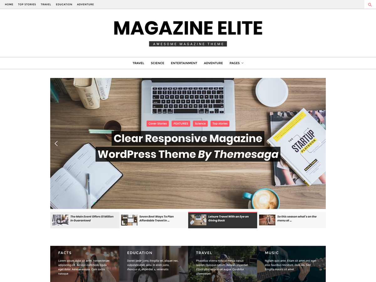 Magazine Elite Download Free Wordpress Theme 2