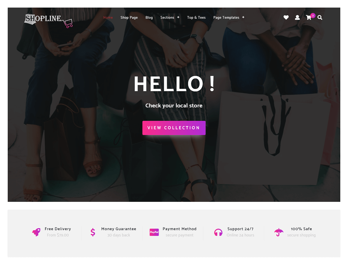Store Shopline Download Free Wordpress Theme 1