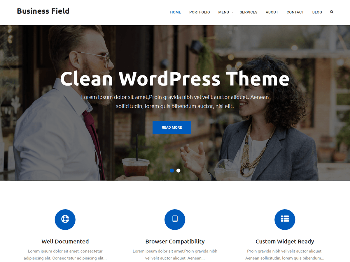 Business Field Download Free Wordpress Theme 4