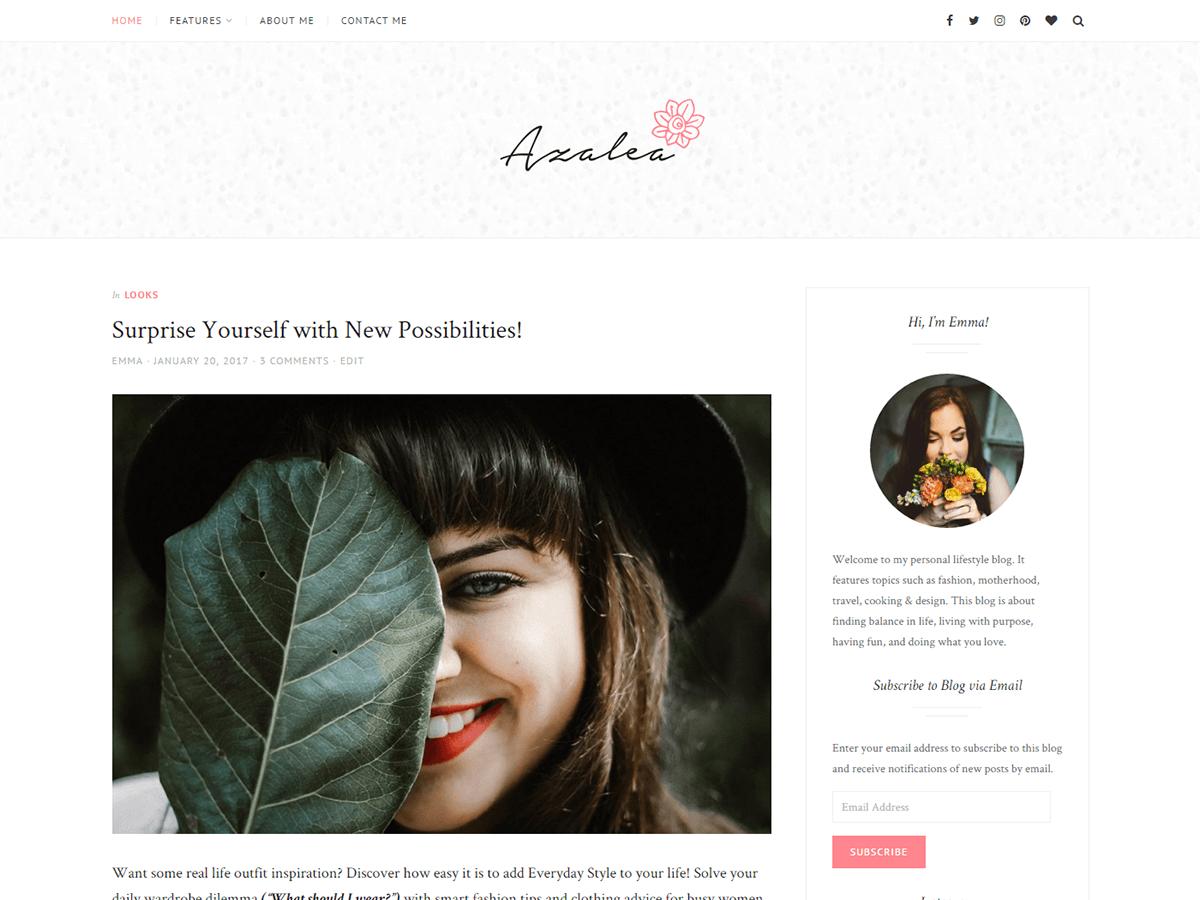Azalea Download Free Wordpress Theme 3