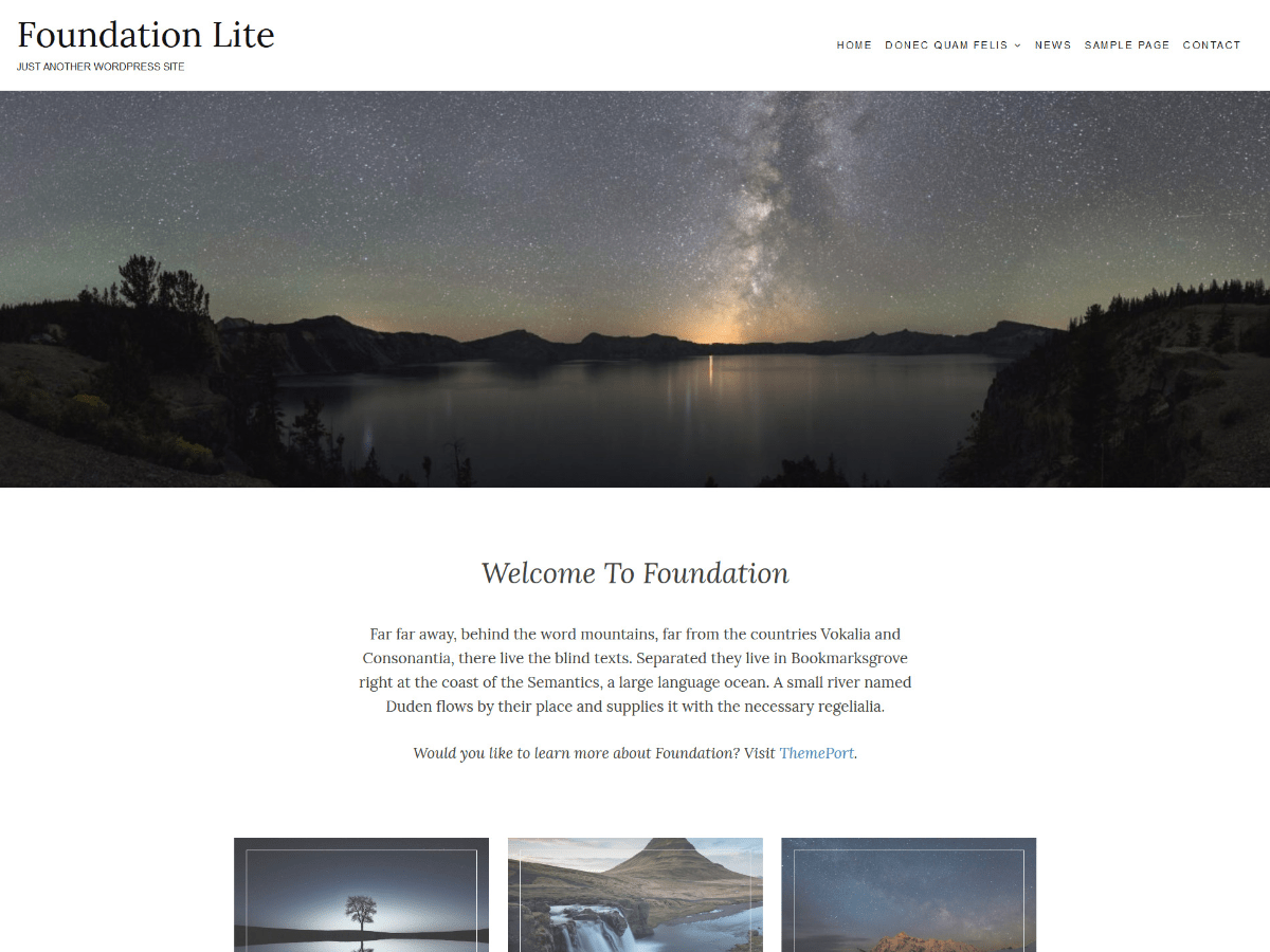 Foundation Lite Download Free Wordpress Theme 1