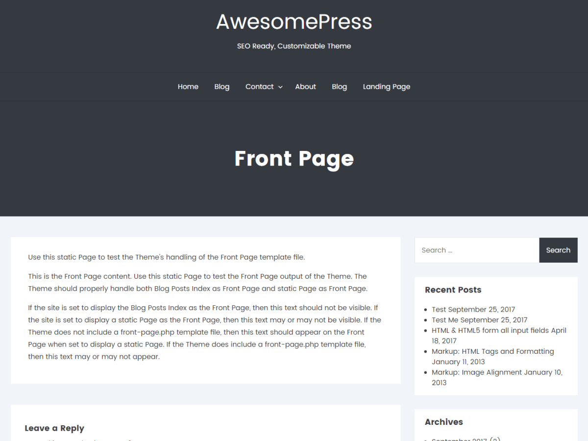 AwesomePress Download Free Wordpress Theme 3
