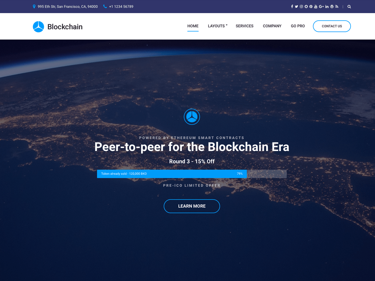 Blockchain Lite Download Free Wordpress Theme 3
