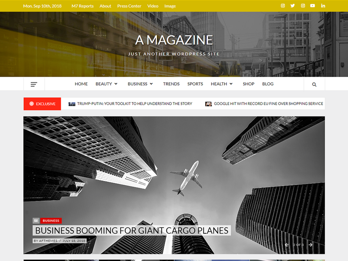A Magazine Download Free Wordpress Theme 3