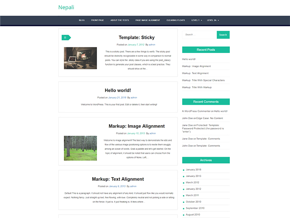 Nepali Download Free Wordpress Theme 5
