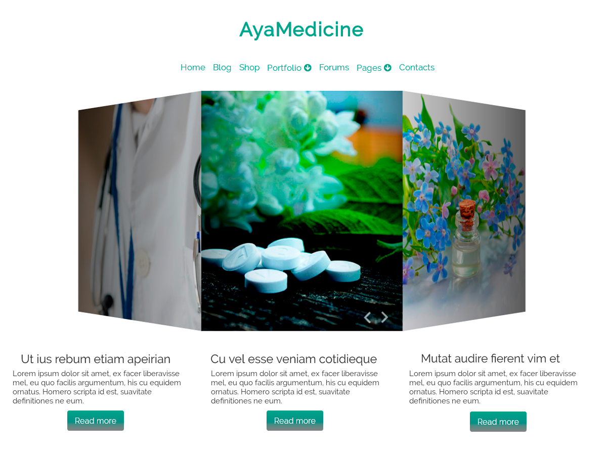 AyaMedicine Download Free Wordpress Theme 1
