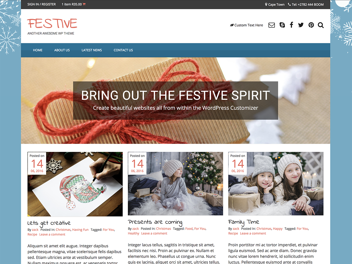 Festive Download Free Wordpress Theme 3