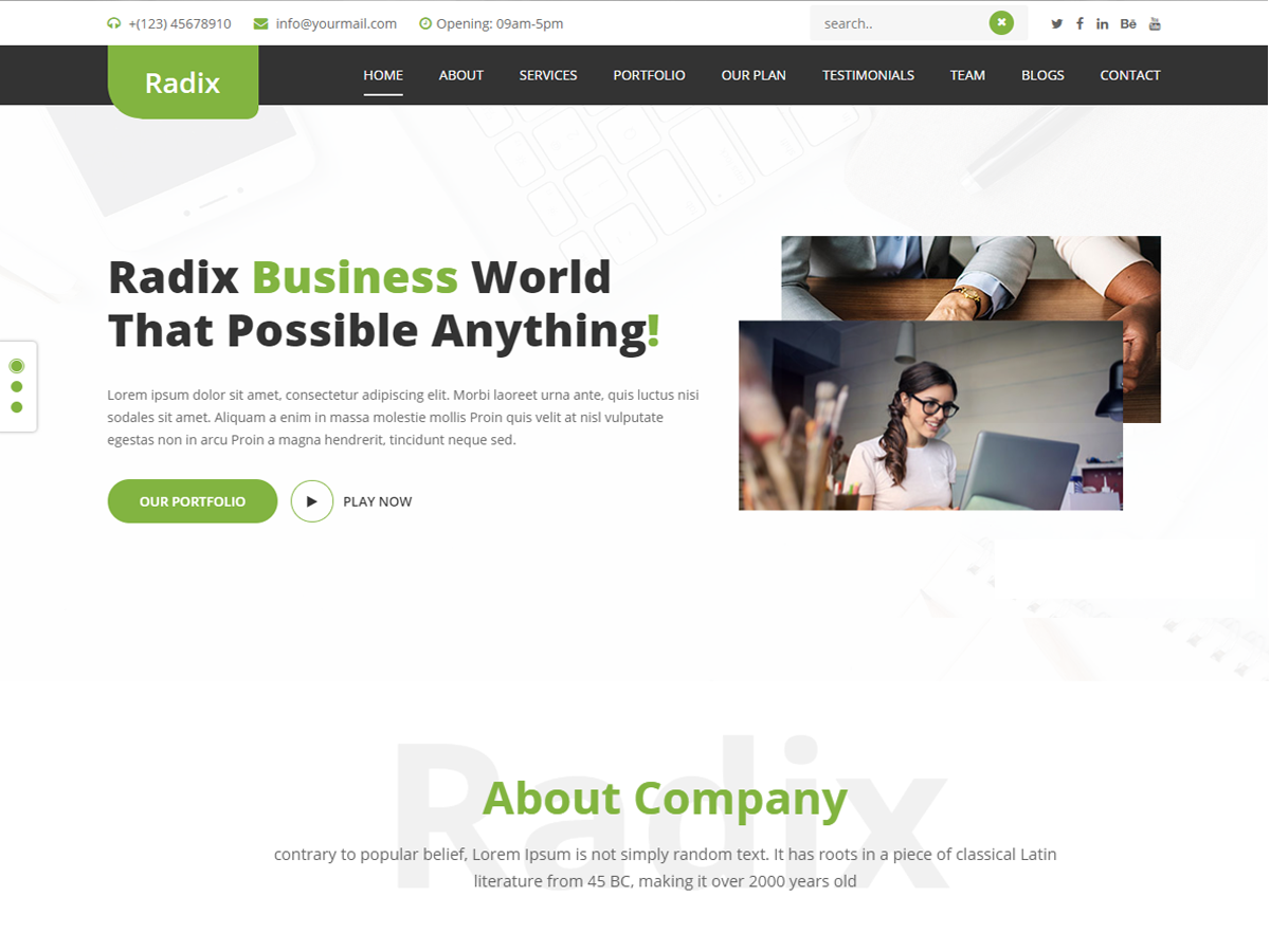 Radix Multipurpose Download Free Wordpress Theme 5