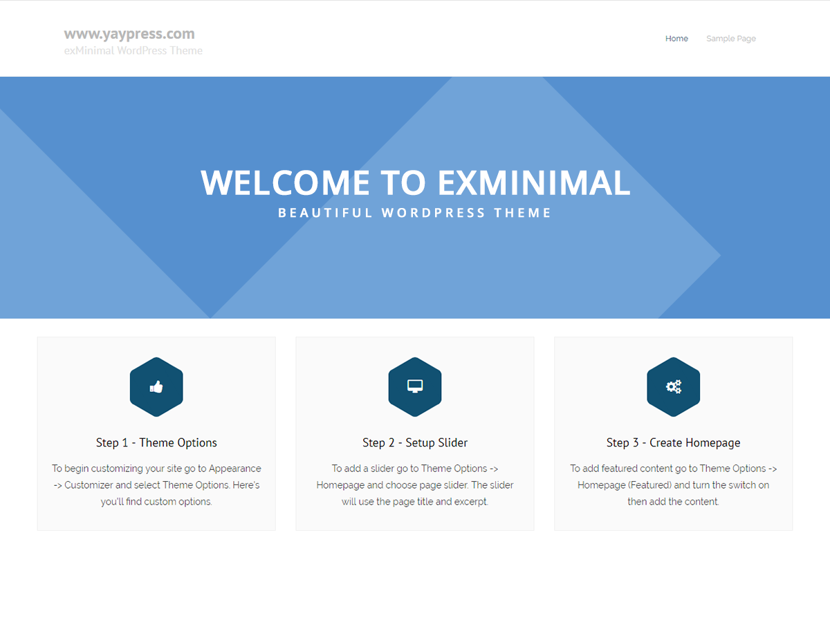 exMinimal Download Free Wordpress Theme 4