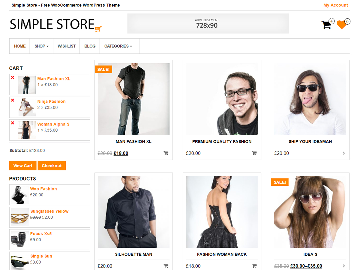 Simple Store Download Free Wordpress Theme 4