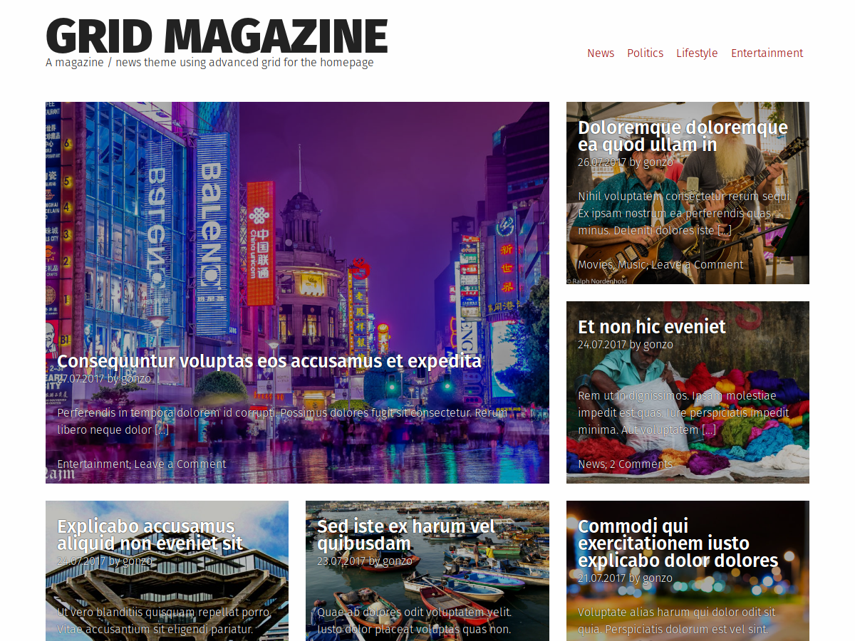 Grid Magazine Download Free Wordpress Theme 1