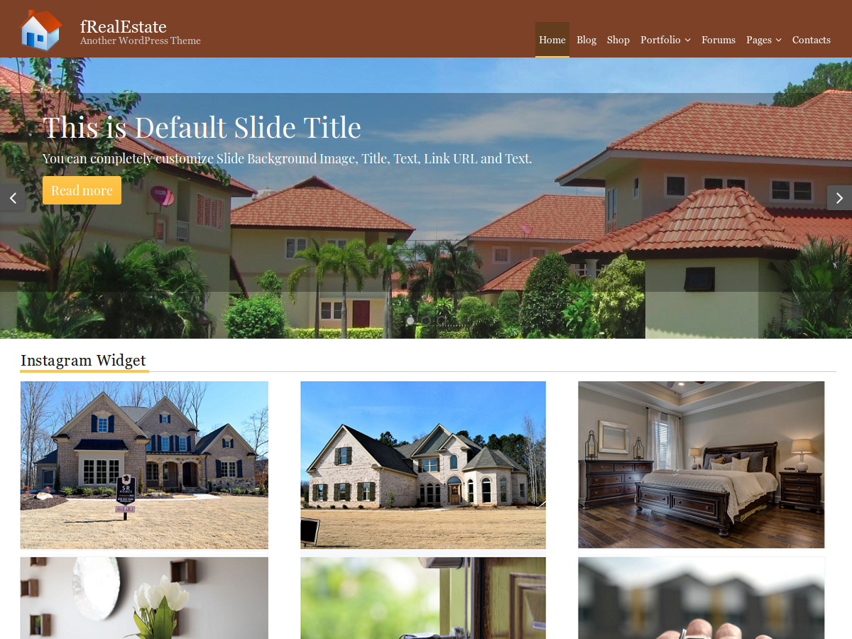 fRealEstate Download Free Wordpress Theme 1
