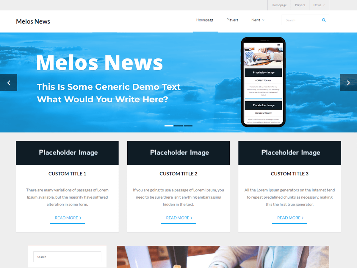 Melos News Download Free Wordpress Theme 3