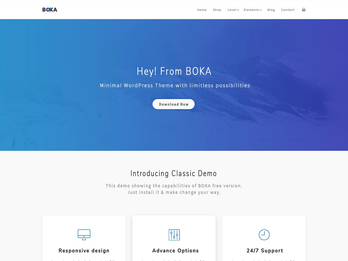 Boka Download Free Wordpress Theme 4
