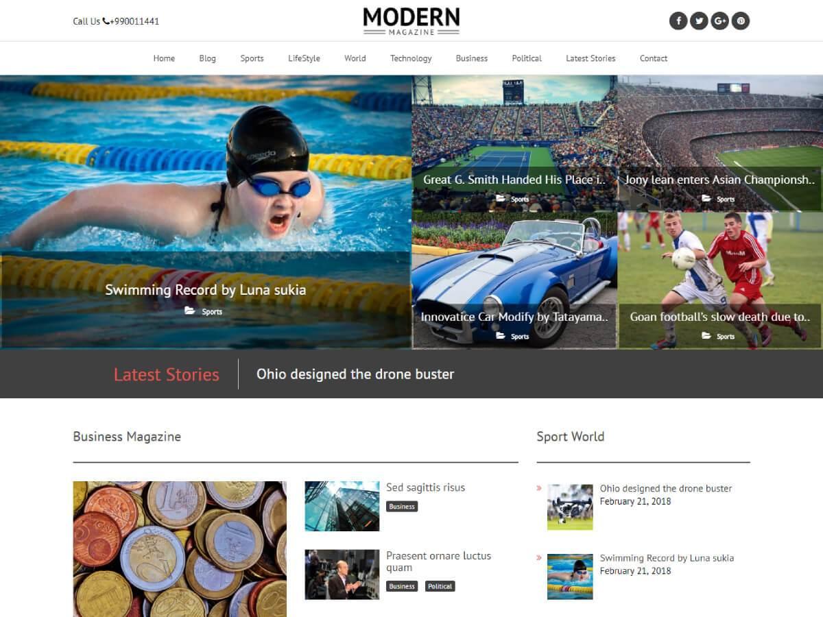 Modern Magazine Download Free Wordpress Theme 5