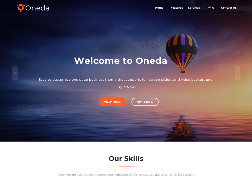 Oneda Download Free Wordpress Theme 2