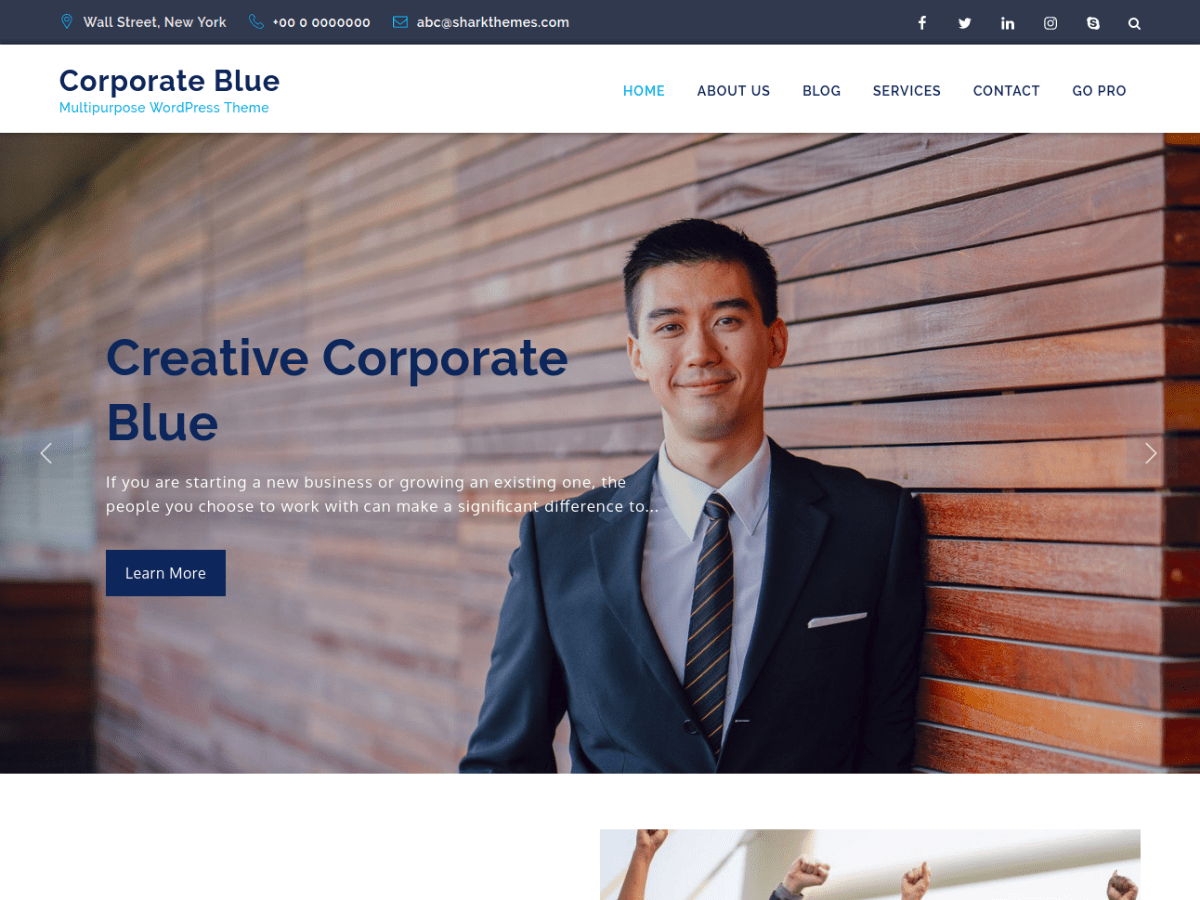 Corporate Blue Download Free Wordpress Theme 1