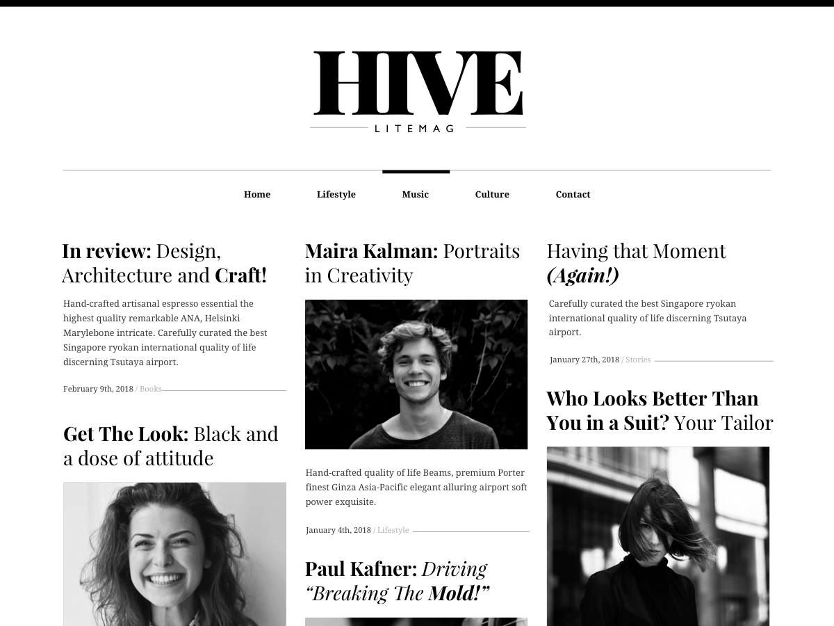 Hive Lite Download Free Wordpress Theme 3